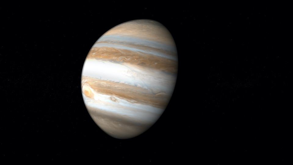 a view of the planet Jupiter