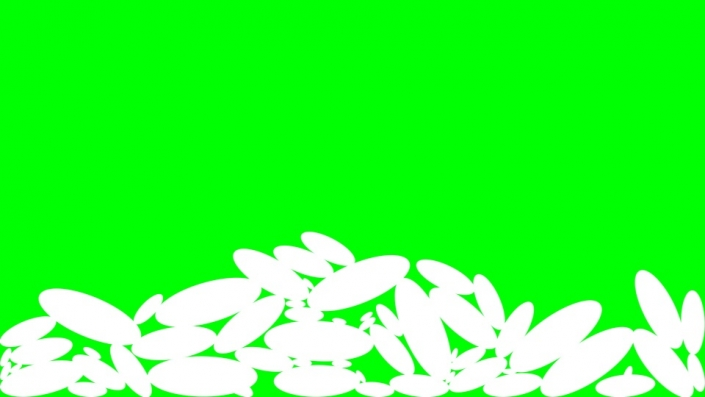 Falling Ovals on a green background