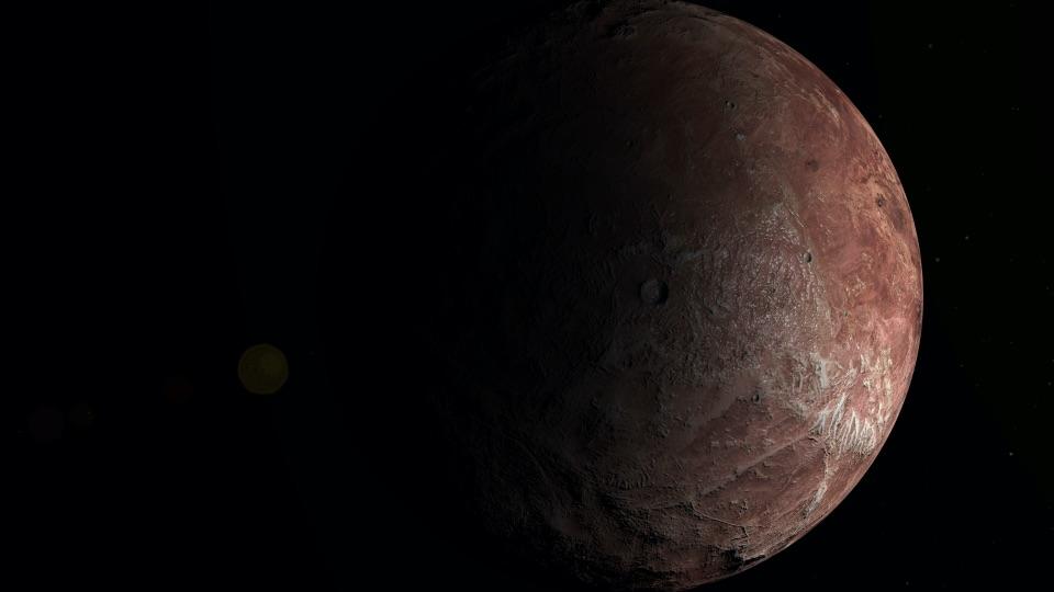 An alien planet
