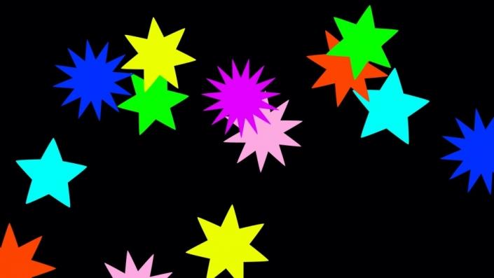 Multi-coloured stars