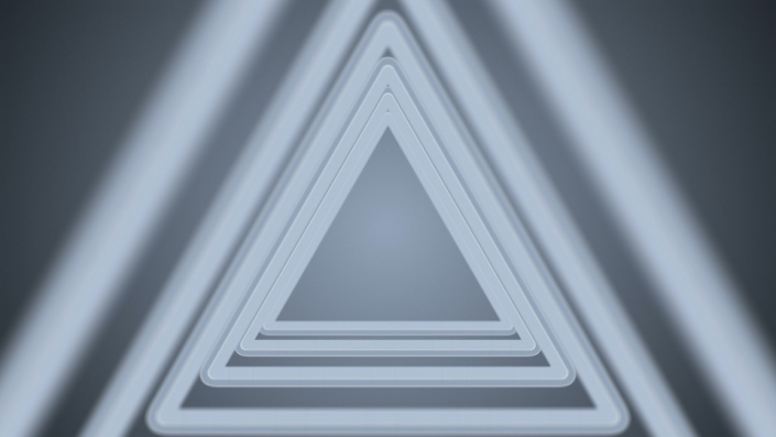 light grey triangles in a tunnel shape