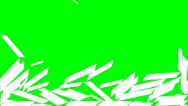 Falling Long Rectangles on a green background