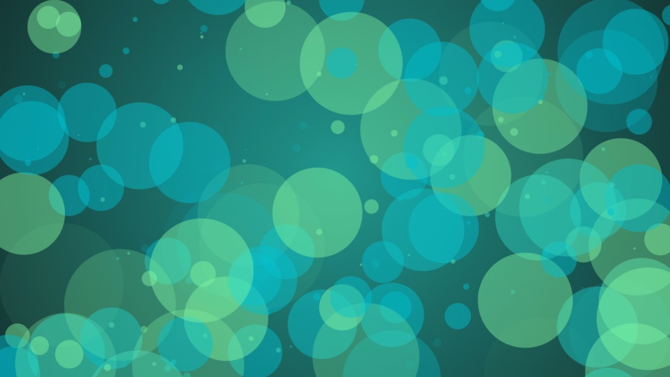 circles on a turquoise background
