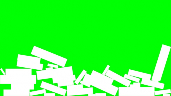 Falling Rectangles on a green background