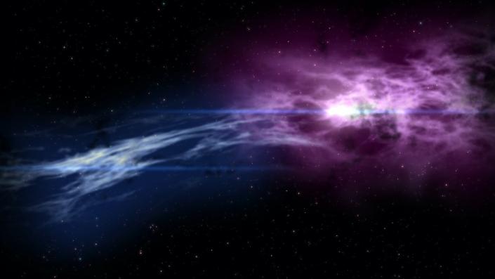 Two nebulas merging