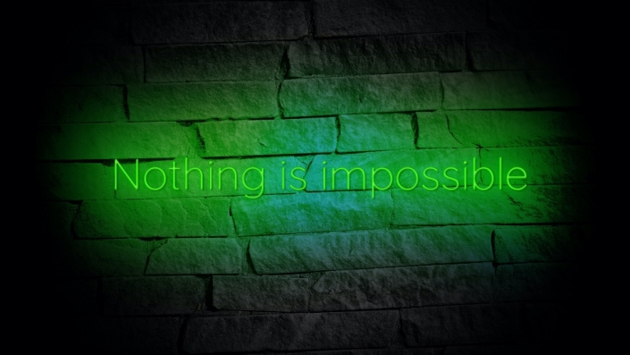 Neon Sign displaying the word Nothing Is Impossible