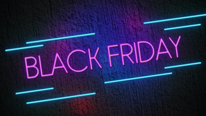 Neon Sign displaying the words Black Friday