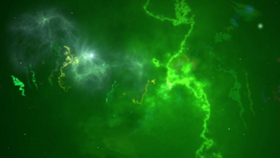 A star nebula in space