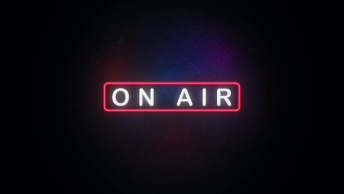 Neon Sign displaying the word On Air