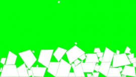 Falling Trapezoids on a green background