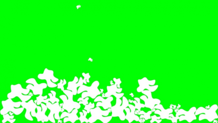 Falling Blobs on a green background