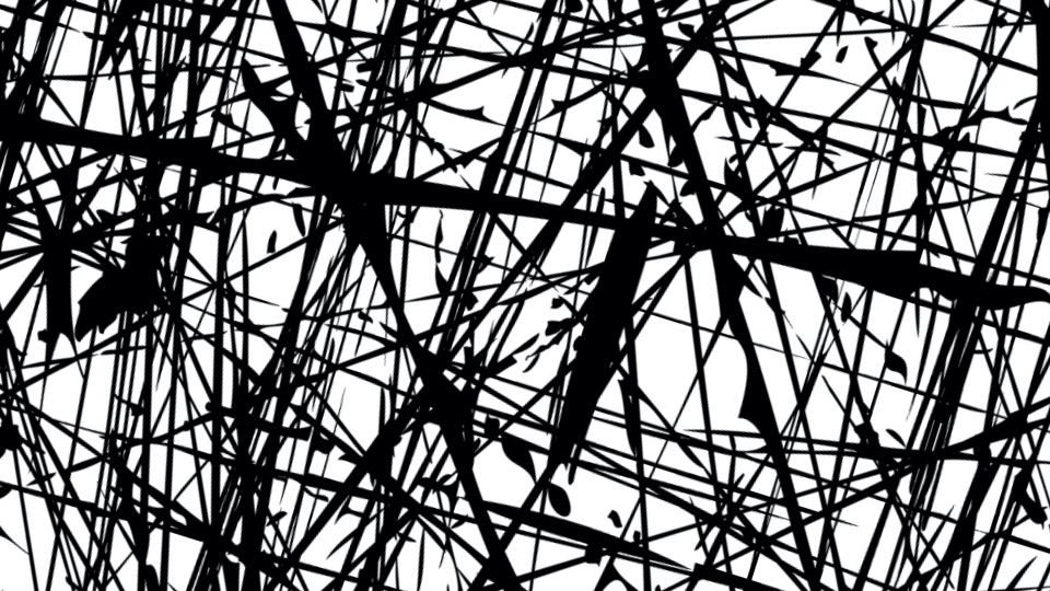 A rotating lines grunge effect