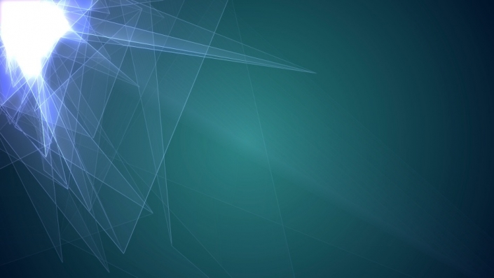 Geometric light shapes on a green background