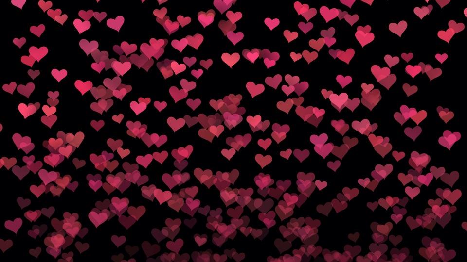 Heart shapes rising