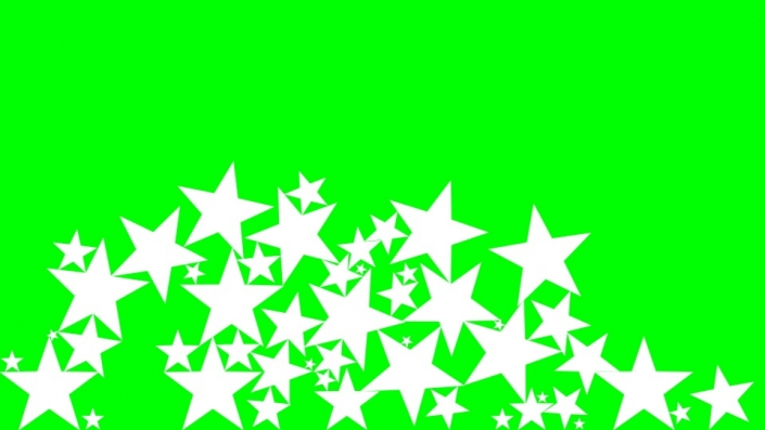 Falling Stars on a green background