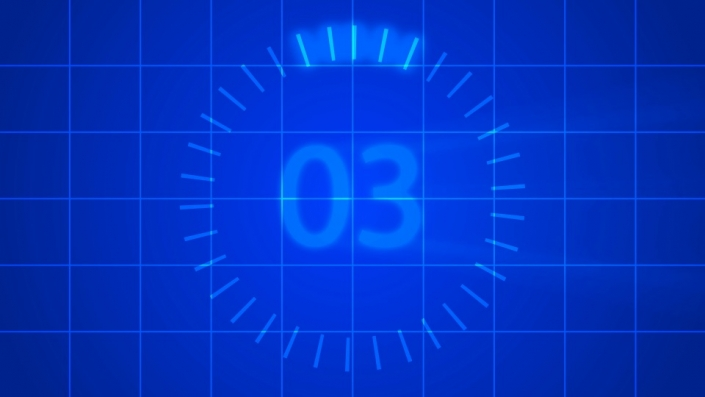 Blue Grid Countdown