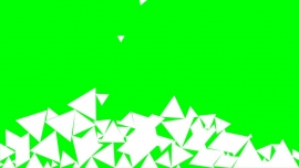 Falling Triangles on a green background