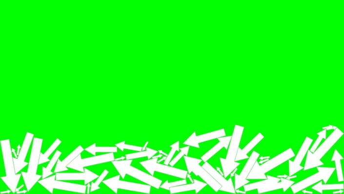 Falling Arrows on a green background