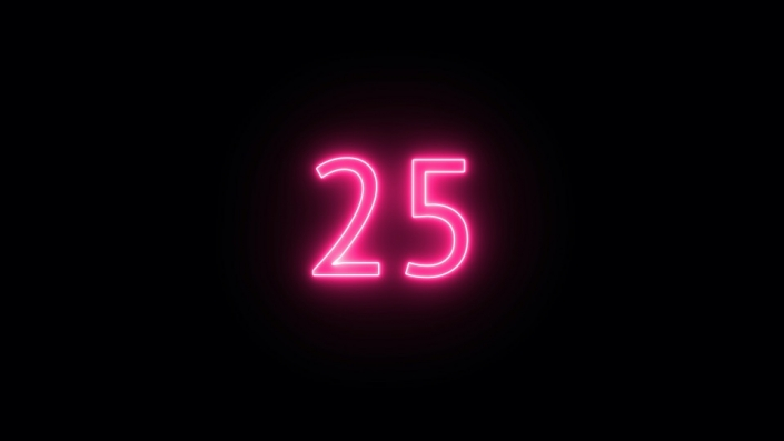 neon-lit countdown from 30