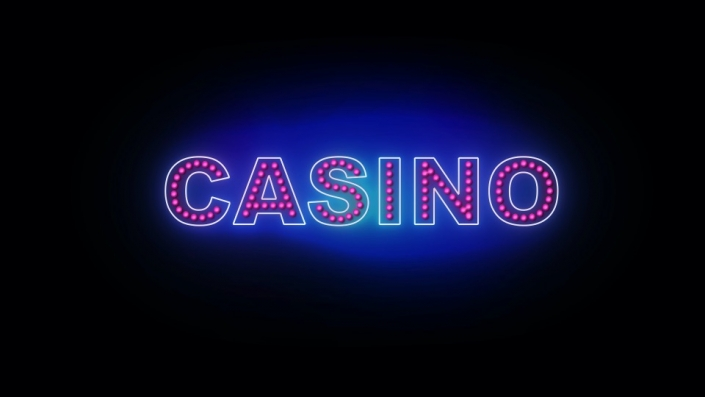 Neon Sign displaying the word Casino
