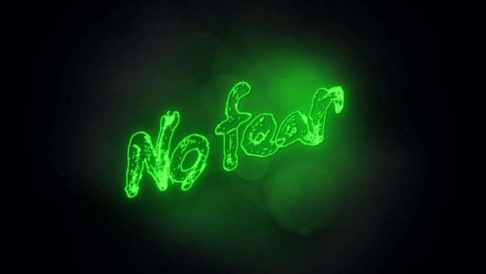 Neon Sign displaying the words No Fear