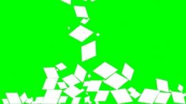 Falling Diamonds on a green background