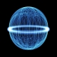 a glowing wireframe sphere