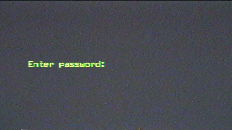 Password prompt on a computer screen