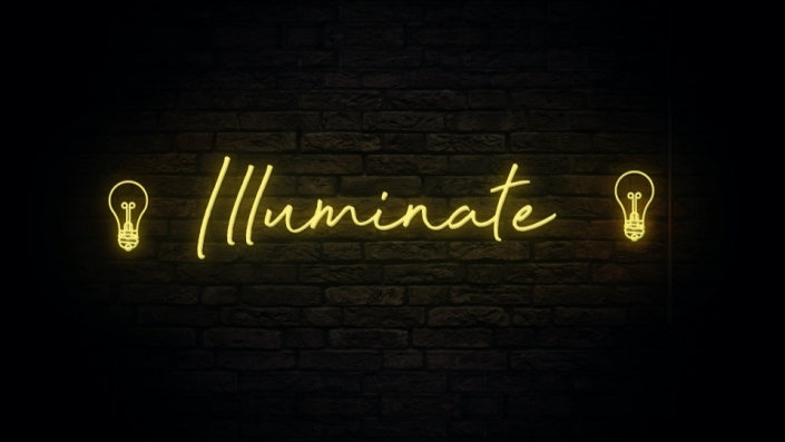 Neon Sign displaying the word Illuminate