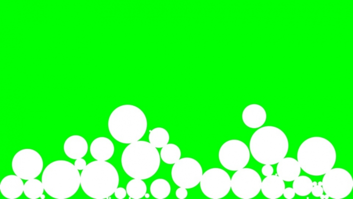 Falling Circles on a green background