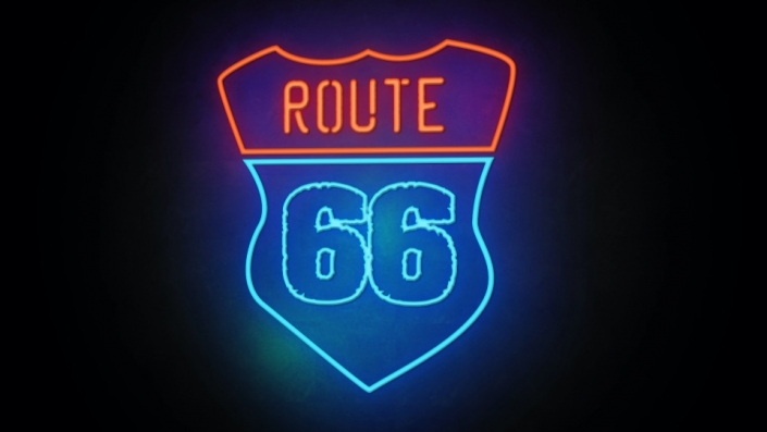 Neon Sign displaying the word Route 66