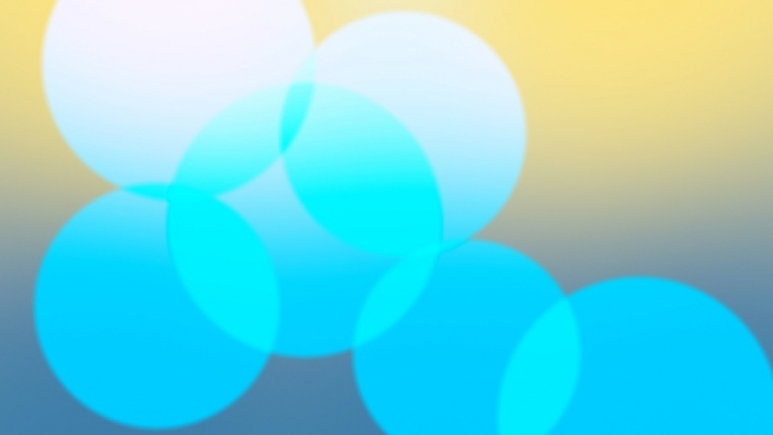 circles on a blue-yellow gradient