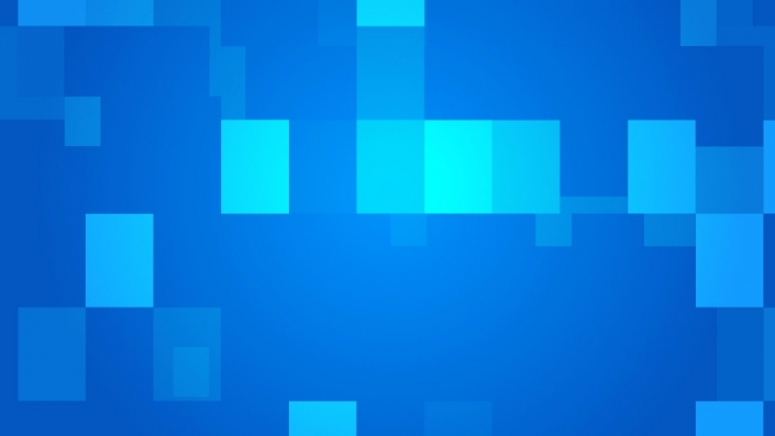 Different shapes of blue squares