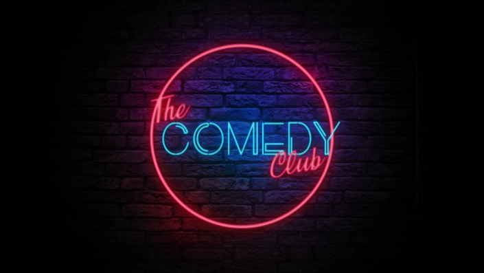 Neon Sign displaying the words The Comedy Club