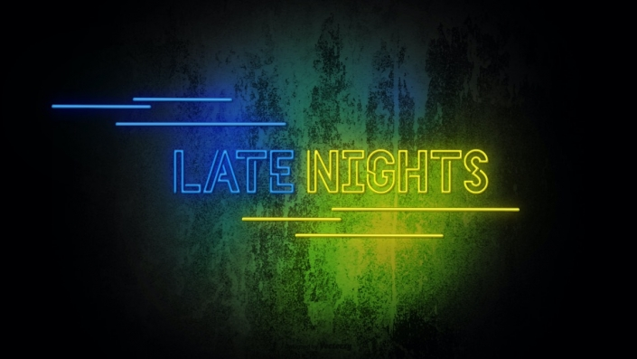 Neon Sign displaying the words Late nights