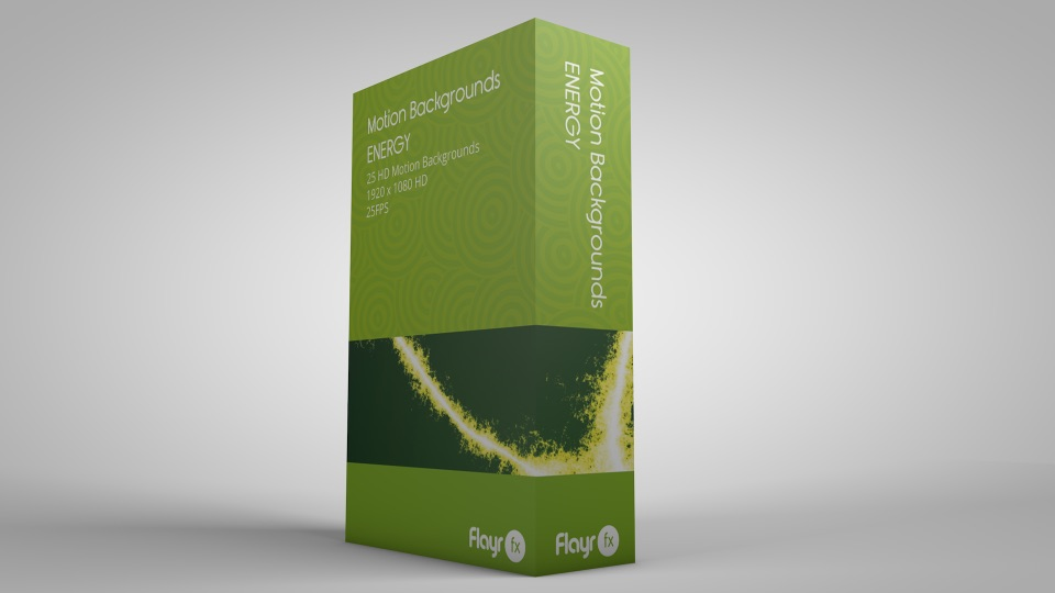 A stock motion graphics product package for the energy pack