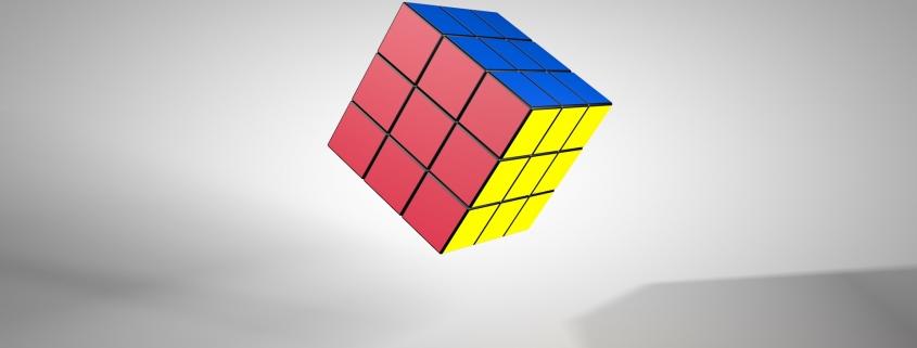 Free 3D rigged Rubik's cube